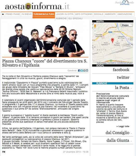 Aosta informa news