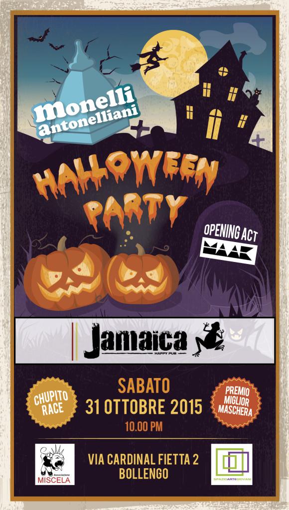 Flyer Halloween al Jamaica di Bollengo